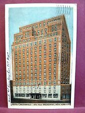 Postcard NY New York City Hotel Chesterfield 49th & Broadway