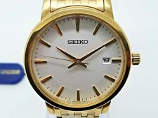 Seiko Watch   Quartz Gold Plated Stainless Steel Mens Sports Watch SGEF92P1