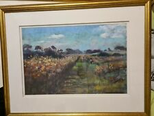 Pastel Drawing by Sylvia Preston, Among the Vines, Framed