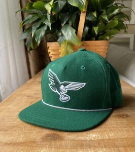 Vintage Style Philadelphia Eagles Snapback Hat Wool Mitchell & Ness BRAND NEW