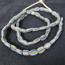 Alte Glasperlen K Old Venetian striped melon seed trade beads Afrozip