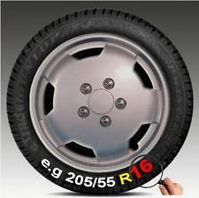 "4 x Ford Transit Van 16"" Wheel Trims Silver Deep Dish Hub Caps Single Rear Wheel"