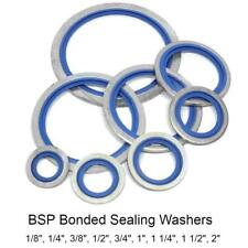 1/8, 1/4, 3/8, 1/2, 3/4, 1, 1 1/4, 1 1/2, 2, BSP Bonded Sealing Washers (Dowty)