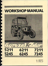 1985 ZETOR 5211/5245/6211/6245/7211/7245 Tractor Workshop Manual Book