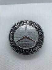 Logo Capot Mercedes Benz  Noir 57mm Emblème CLASSE C E CLK S Neuf
