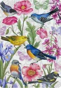 """BIRDS, FLOWERS and BUTTERFLIES SPRING SUMMER YARD GARDEN FLAG 12.5"""" X 18"""""""