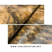 Cowhide Leather Sheets, Brindle, Hair on Hide Cowhide Leather, for bags, wallet