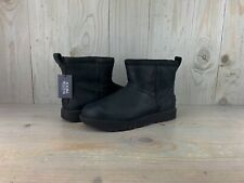 UGG CLASSIC MINI LEATHER  WATERPROOF BLACK WINTER BOOTS  WOMENS US 11 NEW