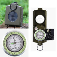 Professional Military Army Metal Sighting Compass  Camping Hiking AU