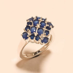 Natural Ceylon Sapphire Ring 925 Sterling Silver Valentine Fine Jewelry Gifts AA