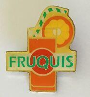 Fruquis Fruit Drink Brand Advertising Pin Badge Rare Vintage (C18)