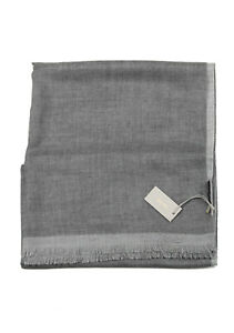 """New Tom Ford Gray Cashmere Silk Signature Scarf 75"""" / 24"""""""