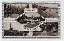 SOUVENIR OF IRVINE: Ayrshire multiview postcard (C13555)