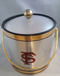 VINTAGE KRAFTWARE FSU Florida State INSULATED ICE BUCKET WITH LID.
