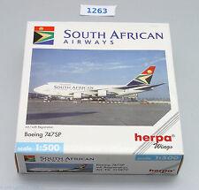 Herpa Boeing 747SP South African Airways SAA   Nr: 511872 1:500 !! RARITÄT !!