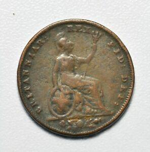GB WILLIAM IV COPPER FARTHING 1831 ++ NICE GRADE!! ++ [040-08]