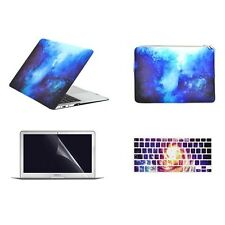 "4 IN 1 Macbook Air 13"" GALAXY BLUE Matte Case Cover + Keyboard Cover + LCD + Bag"