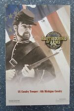 SIDESHOW 12 INCH CIVIL WAR UNION ARMY 6TH MICHIGAN CAVALRY TROOPER MINT IN BOX