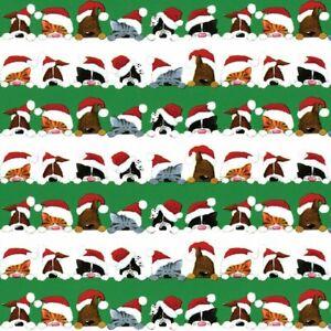 Caspari 8' Continuous Gift Wrap Roll, Christmas Peek A Boo (9599RC)