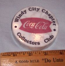 THE COCA - COLA COLLECTORS CLUB WINDY CITY CHAPTER MARBLE PAPERWEIGHT
