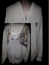 ARTFUL DODGE Mens Hoodie Sweatshirt Jacket Jogging Size 3XL White Cotton