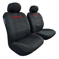 Canvas Seat Covers Black Waterproof For Mitsubishi Triton Dual Cab MQ ML MN