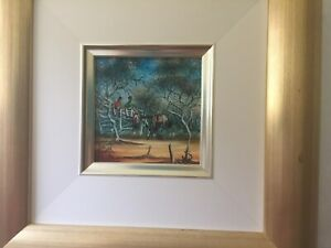 Max Mannix, The Old Stockyards, Original, Oil on Board, Signed & Titled