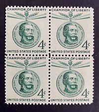 US Stamps, Scott #1117 Lajos Kossuth 1958 4c Block of 4 VF/XF M/NH