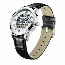 Rotary Men's Automatic Watch Silver Dial Black Leather Strap GS00651/21 - NEW