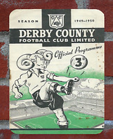 Vintage Tin Sign 1949 Derby County Programme Metal Sign. Man Cave