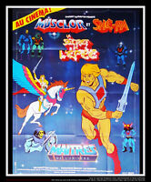 MASTERS OF THE UNIVERSE Animated 4x6 ft French Grande Movie Poster Original 1981