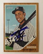 CURTIN GRANDERSON 2011 TOPPS HERITAGE AUTOGRAPHED SIGNED AUTO BASEBALL CARD 169
