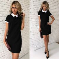 Women Summer Casual Long Sleeve Dresses Party Cocktail Bodycon Short Mini Dress