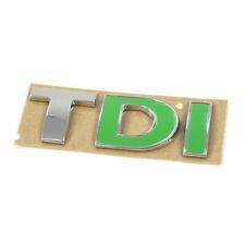 Original VW TDI Schriftzug hinten Heckklappe Emblem Tuning Logo chrom grün OEM