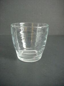 Libbey Orbita Double Old Fashioned Glass Wavy Swirls