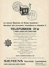 Y1127 Telefunken 31 w - Il nuovo 3 valvole - Pubblicità 1930 - Advertising