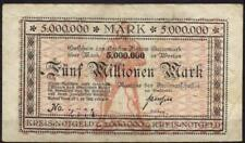 [13619] - NOTGELD FLATOW (heute: Złotów), Kreis, 5 Mio Mk, -01.10.1923. Keller 1