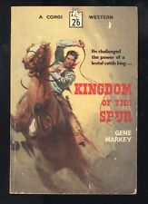 Kingdom Of The Spur Gene Markey Painted Cover UK Corgi Western #S621 1st 1958 VG