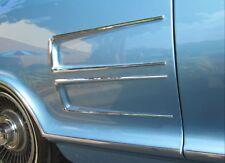 1963-1964 Buick Riviera Rear Quarter Panel Horseshoe Ornaments. Chrome Set