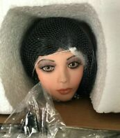 A21 Rustie 255/750 Rare Victorian Porcelain Doll Lady Onyx Black Ivory Lace Gown
