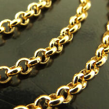 481/a642 GENUINE REAL 18CT YELLOW G/F GOLD LADIES BELCHER PENDANT NECKLACE CHAIN