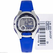 New CASIO Ladies Kids Boys LW200-2A Digital Black Resin Strap Watch LW-200