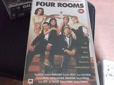 FOUR ROOMS VHS VIDEO CASSETTE quentin tarantino,robert rodriguez,roth,banderas