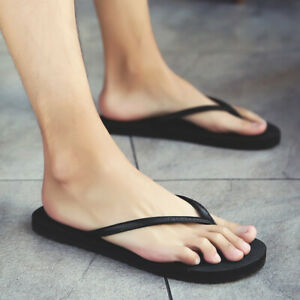 Mens Flip Flops Flats Casual Outdoor Slippers Shoes Summer Beach Sandals Slip on