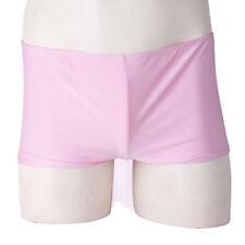 Men's Shiny Metallic Boxer Shorts Drawstring Trunks Underwear Panties Swimwear
