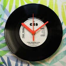 """Paul Young """"Come Back & Stay"""" Retro Chic 7"""" Vinyl Record Wall Clock"""