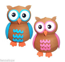 Quantity 2 pcs pack - Tenna Tops® Blue Owl & Pink Owl Car Antenna Toppers