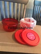 NEW Tupperware SET 2 RED ROCK N SERVE Containers 1-1/2 Cup RARE