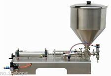 full Pneumatic paste piston filling machine 30-300ml for cream shampoo cosmetic