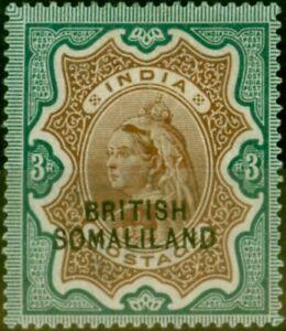 Somaliland 1903 3R Brown & Green SG23 Fine Mtd Mint